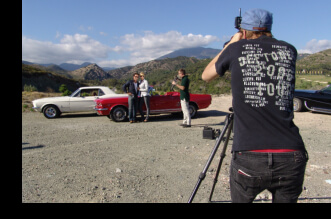 Classic car rental for advertising campaigns