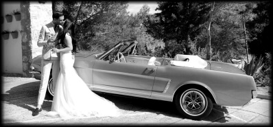 Classic wedding car hire at South of Spain
